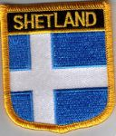Shetland Islands Embroidered Flag Patch, style 07.